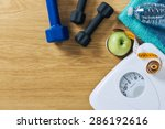 fitness and weight loss concept ... | Shutterstock . vector #286192616