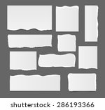 white ripped paper template... | Shutterstock . vector #286193366
