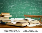 desk in a mess during learning ... | Shutterstock . vector #286203266