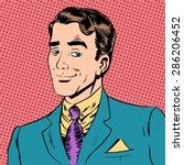 elegant man a gentleman... | Shutterstock .eps vector #286206452
