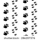 Paw Black Print Seamless...