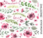 pattern color flowers... | Shutterstock . vector #286207442