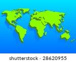 illustration world map | Shutterstock .eps vector #28620955