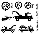 car towing truck icon.vector | Shutterstock .eps vector #286212878
