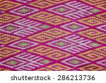 colorful thai silk handcraft... | Shutterstock . vector #286213736