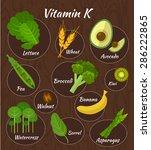 infographic set of vitamin k... | Shutterstock .eps vector #286222865