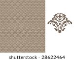 floral seamless wallpaper | Shutterstock .eps vector #28622464