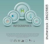 vector graphic abstract info... | Shutterstock .eps vector #286225805