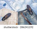 Denim Clothes Background