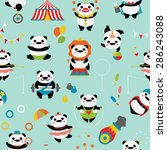 seamless pattern with cute... | Shutterstock .eps vector #286243088