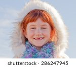 six year old red haired girl... | Shutterstock . vector #286247945