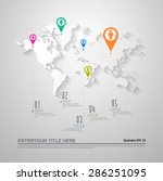 world map infographics. vector... | Shutterstock .eps vector #286251095