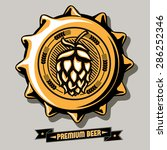 vector brewery emblem on bottle ... | Shutterstock .eps vector #286252346