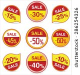 sale stickers and tags | Shutterstock .eps vector #286254326