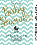 baby shower invitation with... | Shutterstock .eps vector #286258052