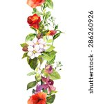wild herbs  flowers and...   Shutterstock . vector #286260926