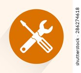 service symbol. hammer with... | Shutterstock .eps vector #286274618