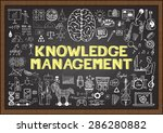 doodles about knowledge... | Shutterstock .eps vector #286280882