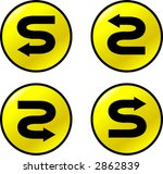 s turn arrow buttons | Shutterstock .eps vector #2862839