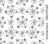 floral seamless pattern in the... | Shutterstock .eps vector #286295282
