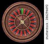 roulette wheel isolated on... | Shutterstock . vector #286296692