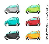 electric cars or mini cars | Shutterstock .eps vector #286299812