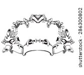 frame vintage baroque flowers...   Shutterstock .eps vector #286300802