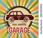 garage design over vintage... | Shutterstock .eps vector #286302002