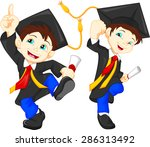 happy graduates | Shutterstock . vector #286313492