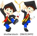 happy graduates   Shutterstock . vector #286313492