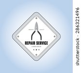 abstract repair label on a...   Shutterstock .eps vector #286321496