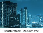bangkok cityscape at twilight... | Shutterstock . vector #286324592