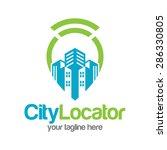 city pointer location logo... | Shutterstock .eps vector #286330805