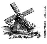 Old Windmill Vectorized From...