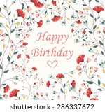 beautiful birthday card  | Shutterstock . vector #286337672