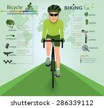 bike info graphics.vector | Shutterstock .eps vector #286339112