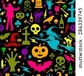seamless halloween background | Shutterstock .eps vector #286339745