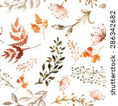 vector seamless pattern with... | Shutterstock .eps vector #286342682