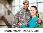 military  family  armed forces. | Shutterstock . vector #286372988