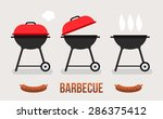 vector set of barbecue and grill | Shutterstock .eps vector #286375412