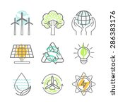 Vector Ecology Icons  ...