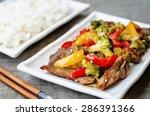 Pepper Broccoli Beef Stir Fry...