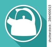 icon tea maker on white circle... | Shutterstock . vector #286400015
