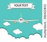 vector illustration of airplane | Shutterstock .eps vector #286422812