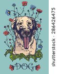 a dog portrait design for...   Shutterstock .eps vector #286426475