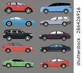 different range of cars set.  | Shutterstock .eps vector #286426916