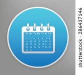 calendar design icon on blue...   Shutterstock .eps vector #286437146