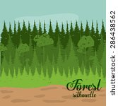 forest design over landscape ... | Shutterstock .eps vector #286438562