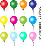 balloon texture | Shutterstock .eps vector #2864402