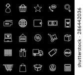 e commerce line icons on black...   Shutterstock .eps vector #286442036